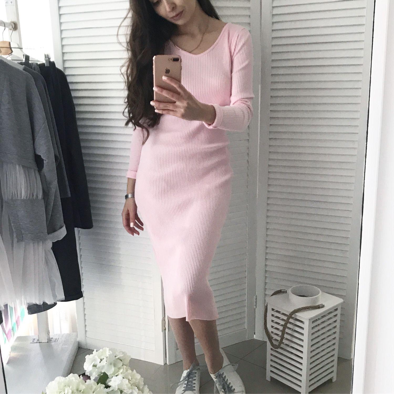 149ecea101f Ярмарка Мастеров - ручная работа. Купить Платье лапша в нежном розовом  цвете ...