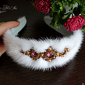 Украшения handmade. Livemaster - original item The bezel is made of mink fur, fur headband, hair band. Handmade.