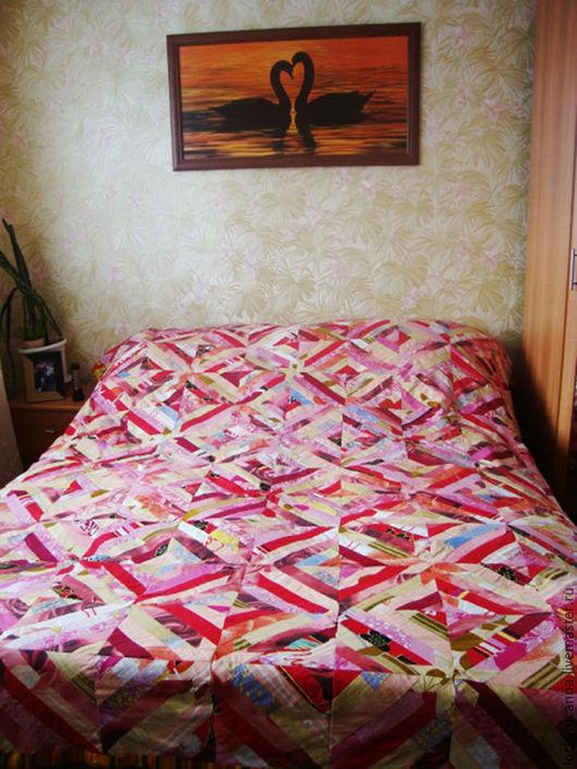 """Текстиль, ковры ручной работы. Ярмарка Мастеров - ручная работа. Купить Покрывало - одеяло """"Осень"""". Handmade. Оранжевый, кровать, осень"""
