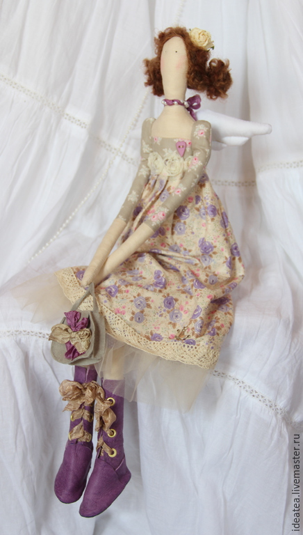 Куклы Тильды ручной работы. Ярмарка Мастеров - ручная работа. Купить Лавандовый Ангел в стиле Тильда. Handmade. Разноцветный, лаванда