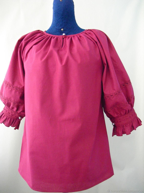 блузка фасон крестьянка фото понимаю