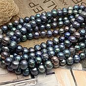 Материалы для творчества handmade. Livemaster - original item 10 PCs. Pearls of natures. dark 7-8 mm AA (3541). Handmade.