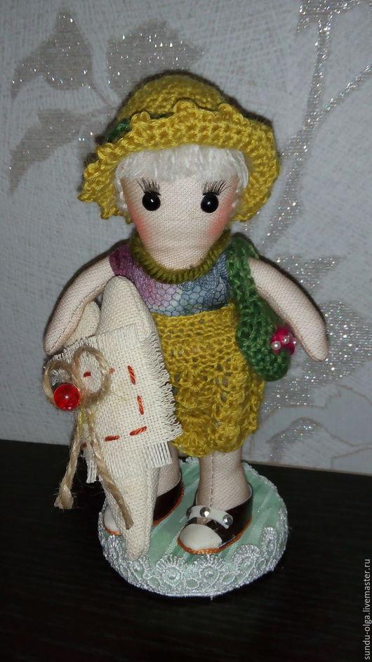 Коллекционные куклы ручной работы. Ярмарка Мастеров - ручная работа. Купить Куколка с Сердцем. Handmade. Комбинированный, кукла текстильная