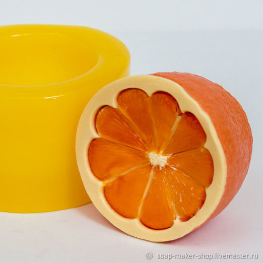 Silicone mold for soap 'Citrus 3D', Form, Shahty,  Фото №1