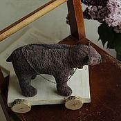 Stuffed Toys handmade. Livemaster - original item The bear on the truck. Handmade.