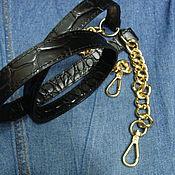 Аксессуары ручной работы. Ярмарка Мастеров - ручная работа Кожаный ремешок для сумки. Handmade.