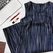 Одежда ручной работы. Ярмарка Мастеров - ручная работа Сарафан офисный, шерстяной. Handmade.
