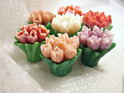 """Мыло ручной работы. Ярмарка Мастеров - ручная работа. Купить Мыло """"Букет тюльпанов"""". Handmade. Мыло ручной работы, тюльпаны"""
