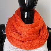 Аксессуары handmade. Livemaster - original item Snood in two turns of knitted kid-mohair. Handmade.