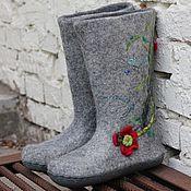 """Обувь ручной работы. Ярмарка Мастеров - ручная работа Валенки женские """"Полевые"""". Handmade."""