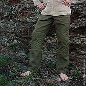"""Одежда ручной работы. Ярмарка Мастеров - ручная работа Брюки мужские льняные """"Мирный воин"""". Handmade."""