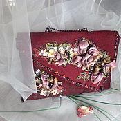 Сумки и аксессуары handmade. Livemaster - original item Felted evening bag Evening color Marsala. Handmade.