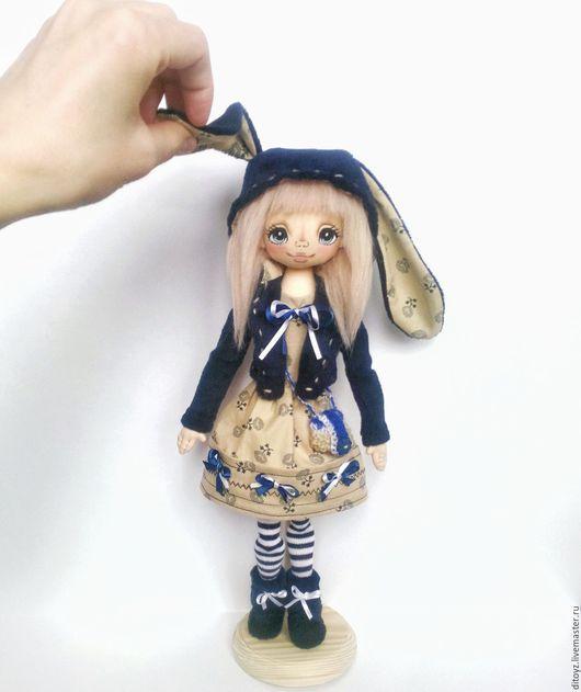 Коллекционные куклы ручной работы. Ярмарка Мастеров - ручная работа. Купить Кукла текстильная Девочка-зая Банни, 40 см. Handmade.