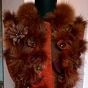 """Одежда ручной работы. Ярмарка Мастеров - ручная работа Валяный жилет """"Багрянец"""". Handmade."""