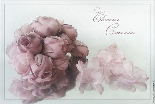 Свадебные украшения ручной работы. Ярмарка Мастеров - ручная работа. Купить Цветы на платье Бутоны роз. Handmade. Бледно-розовый