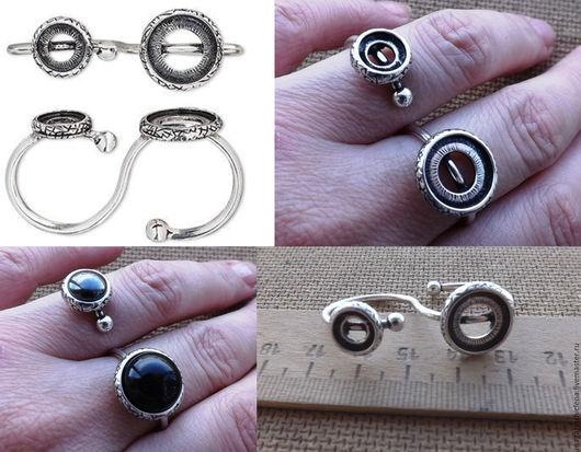 Для украшений ручной работы. Ярмарка Мастеров - ручная работа. Купить Двойная основа для кольца. Handmade. Основа для кольца