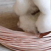 Канитель ручной работы. Ярмарка Мастеров - ручная работа Жёсткая канитель 1мм Розовое золото. Handmade.