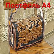 Сумки и аксессуары handmade. Livemaster - original item Handmade leather bag - Briefcase A 4. Handmade.