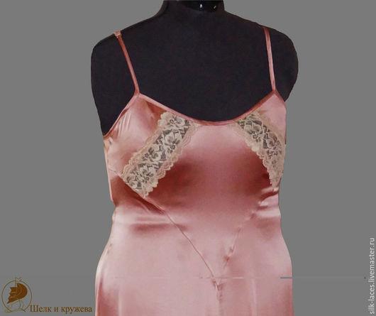Белье ручной работы. Ярмарка Мастеров - ручная работа. Купить ночная сорочка из шёлка. Handmade. Розовый, комбинация, натуральный шелк