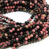 Beads1 handmade. Livemaster - original item Rhodonite beads, natural stone, 3 mm, Urals, Russia. Handmade.