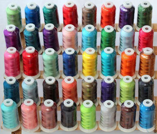 Вышивка ручной работы. Ярмарка Мастеров - ручная работа. Купить Набор ниток для машинной вышивки 40 цветов Polyester 100%. Handmade.