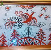 Вышивка крестом Картина Оберег славянский Птица Счастья мезенская росп