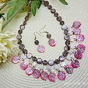 Украшения handmade. Livemaster - original item Necklace earrings Dancer mother of Pearl multicolored. Handmade.