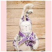 Куклы и игрушки ручной работы. Ярмарка Мастеров - ручная работа Сиреневый зайчик засыпайка с лавандой. Handmade.