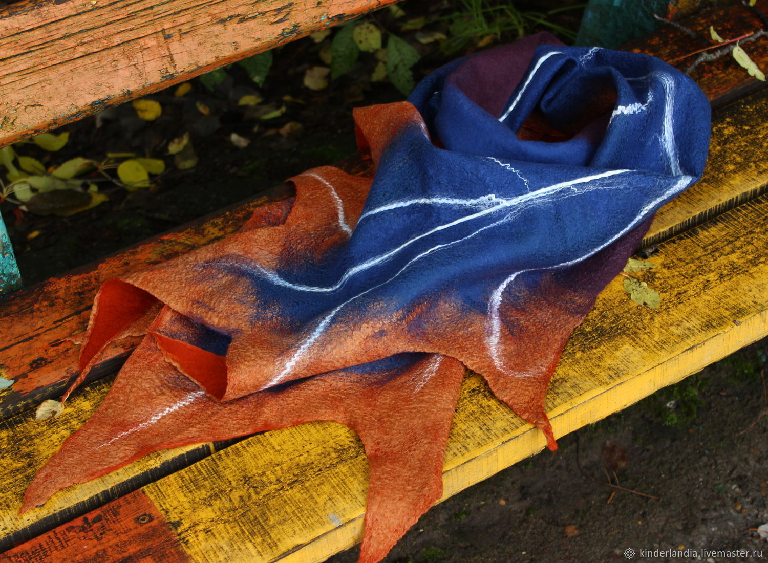 Tippet felted Maple, Scarves, St. Petersburg,  Фото №1