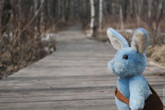 Мишки Тедди ручной работы. Ярмарка Мастеров - ручная работа. Купить Авторский кролик Гарри. Handmade. Голубой, коллекционная игрушка