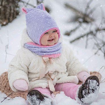 Товары для малышей ручной работы. Ярмарка Мастеров - ручная работа Зимняя шапка и снуд. Handmade.