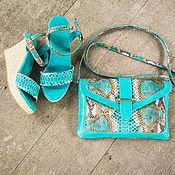 Сумки и аксессуары handmade. Livemaster - original item Bag made of Python Valencia ( leather bag ). Handmade.
