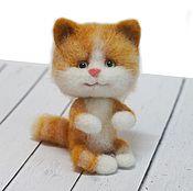 Украшения ручной работы. Ярмарка Мастеров - ручная работа Брошка-кот рыжий полосатый. Handmade.