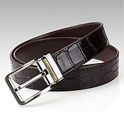 Straps handmade. Livemaster - original item Belt crocodile leather, elegant gift for a man. Handmade.