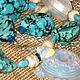 """Заказать Бусы """"Лунная черепаха"""" опаловое стекло, жемчуг, лэмпворк. Мари. Ярмарка Мастеров. . Колье Фото №3"""