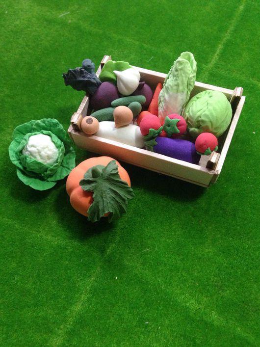 Куклы и игрушки ручной работы. Ярмарка Мастеров - ручная работа. Купить Миниатюра Набор овощей. Handmade. Кукольная миниатюра, кабачок