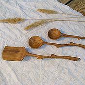 Посуда ручной работы. Ярмарка Мастеров - ручная работа Деревянная ложка / лопатка. Дуб.. Handmade.