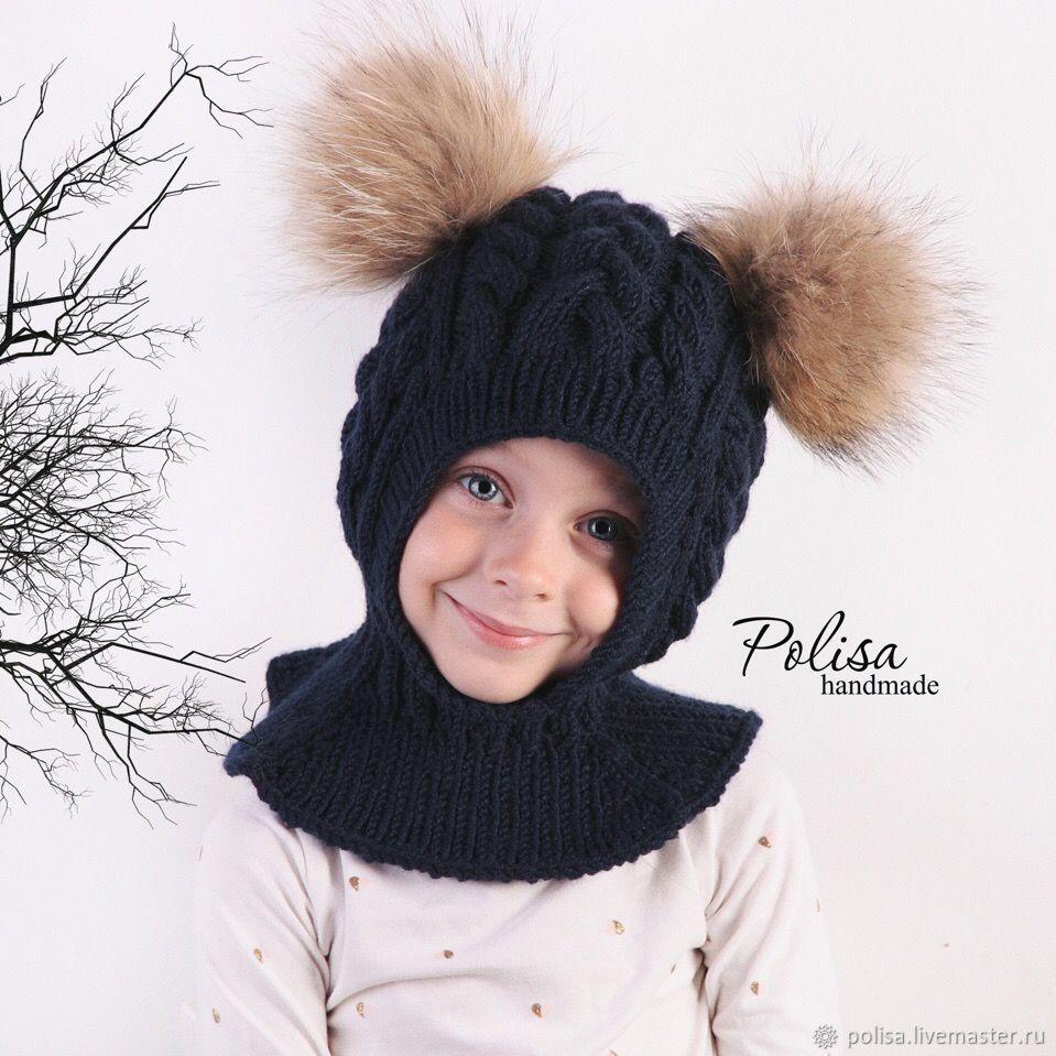 Зимняя шапка шлем с помпонами, Шапки, Москва,  Фото №1