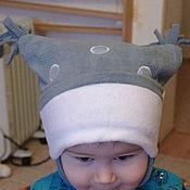 Аксессуары ручной работы. Ярмарка Мастеров - ручная работа Зимняя шапка с ушками. Handmade.