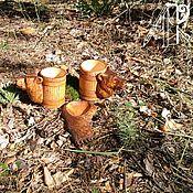 Сувениры и подарки handmade. Livemaster - original item Beer set as a gift.Wooden beer mugs with a plate for nuts. Handmade.