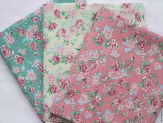 """Шитье ручной работы. Ярмарка Мастеров - ручная работа. Купить Набор тканей """"Нежность роз"""" (арт.3712) Корея. Handmade."""