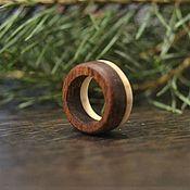 Кольца ручной работы. Ярмарка Мастеров - ручная работа кольцо из рога лося и красного дерева. Handmade.