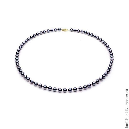 жемчужное ожерелье,  купить жемчужное ожерелье, ожерелье из жемчуга, ожерелье из морского жемчуга, черный жемчуг