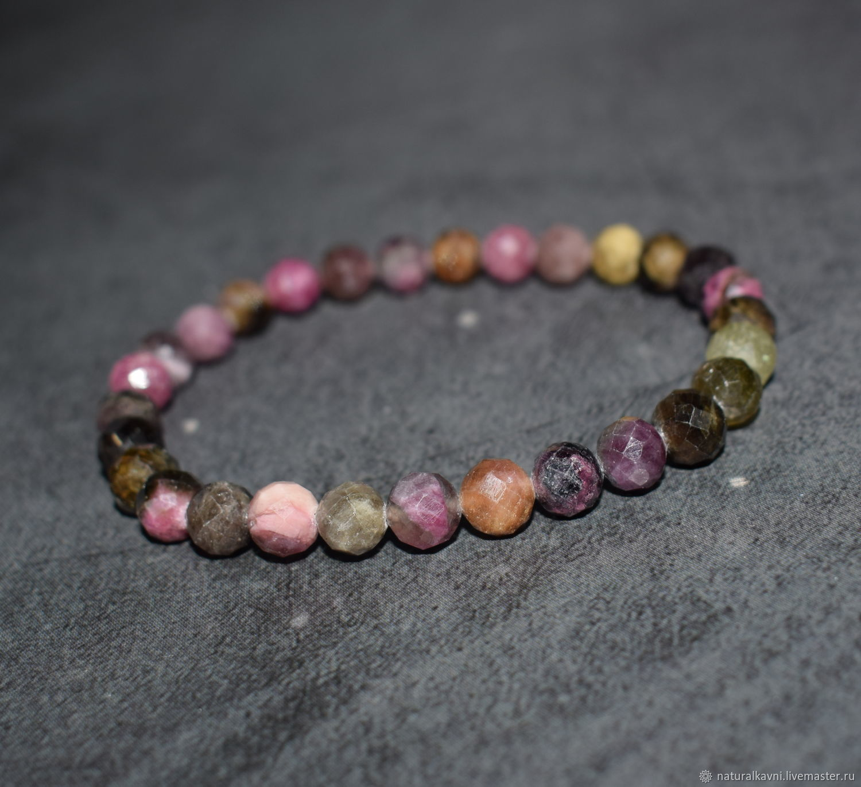 Natural Tourmaline Cut Bracelet, Bead bracelet, Moscow,  Фото №1