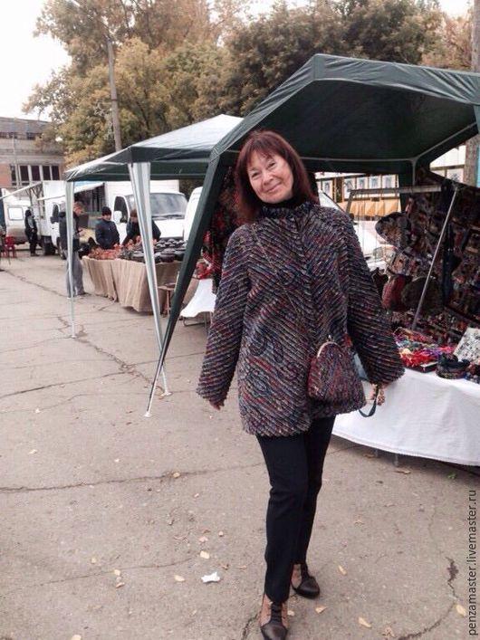Верхняя одежда ручной работы. Ярмарка Мастеров - ручная работа. Купить Куртка( полупальто) из павлопосадского платка Восточный калейдоскоп. Handmade.