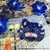 Украшения ручной работы. Ярмарка Мастеров - ручная работа Синий кот. Handmade.