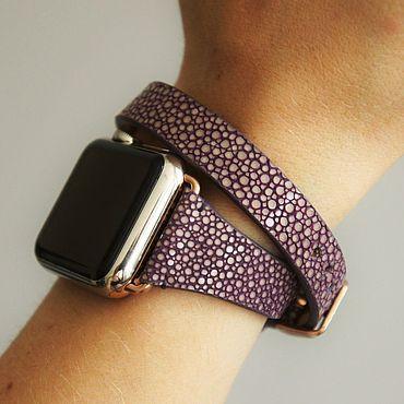 Украшения ручной работы. Ярмарка Мастеров - ручная работа Ремешок  на Apple Watch в 2 оборота. Handmade.