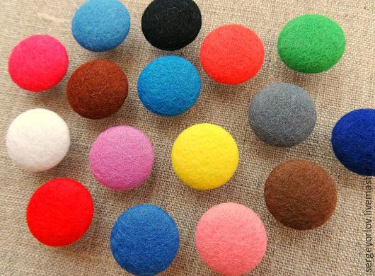 Шитье ручной работы. Ярмарка Мастеров - ручная работа. Купить Фетровые пуговицы, более 15 цветов (!). Handmade. Комбинированный