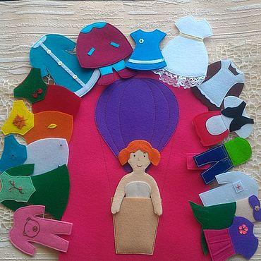 """Куклы и игрушки ручной работы. Ярмарка Мастеров - ручная работа Дидактическая игра """"Одень куклу"""". Handmade."""
