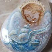 Украшения handmade. Livemaster - original item Amulet pendant with angel painting